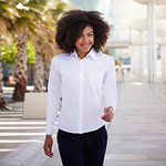 Lady-fit poplin long sleeve shirt